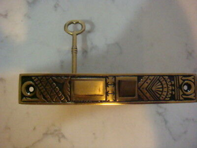 Eastlake Branford Picket Fence Oriental  Mortise Door Lock Retro Reproduction