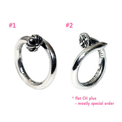 d6f04aef209a Authentic  Chrome Hearts  Nail Ring - Crossball Flat CH Plus (Choose one