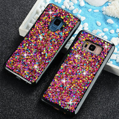Glitter Bling Case For Samsung Galaxy S10 Plus S9 S8 TPU Hybrid Shockproof Cover