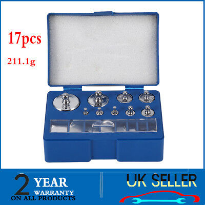 17Pc Steel 10mg-100g Grams Precision Calibration Weight Set Test Jewelry Scale a