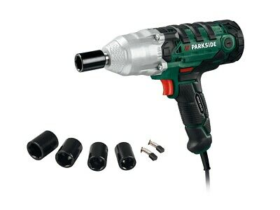 """Powerfull 450W Electric Impact Wrench 1/2"""" Drive 4 Sockets Case Parkside Germany"""