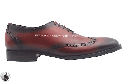 d958f9c6236d0 FUTOLI MENS GENUINE Leather Oxford Wingtip Goodyear Welted Shoes ...