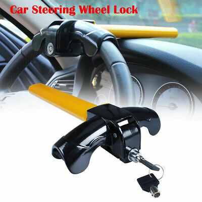 Universal AUTO Anti Theft Car Security Rotary Steering Wheel Lock Car Truck SUV