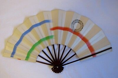 Vintage Geisha Odori 'Maiogi' Folding Dance Fan made by Kyoto KYOSENDO