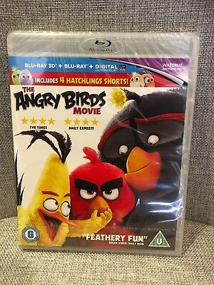 The Angry Birds Movie [Blu-ray 3D + Blu-ray + UV Copy] [2016] New & Sealed