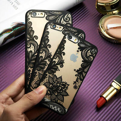Mandala Henna Pattern Clear Case Hybrid Shockproof Cover For Samsung S10 Plus S9