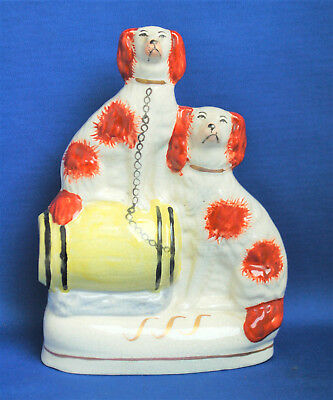 A lovely antique style porcelain Cottage Spaniel, Wally Dog flatback figure