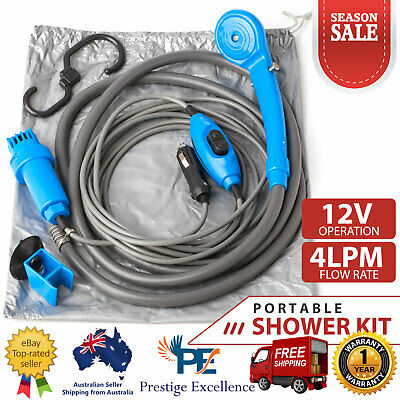 Battery Powered Camping Shower Caravan Camp Shower System Camping Gear Equipment