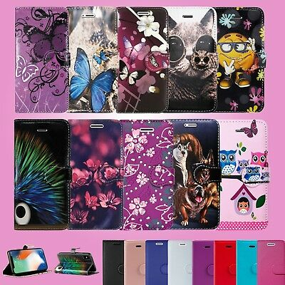 Leather Wallet Book Flip For Nokia 6.1 & Many Phone Full Safe Case Cover Flowers