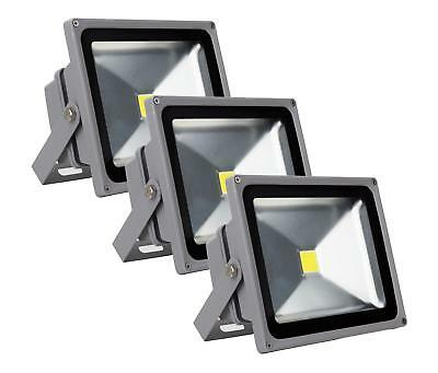 3x FOCO LED LUZ LAMPARA PROYECTOR PARED EXTERIOR 30W 50.000H A+ IP65 4500K SET