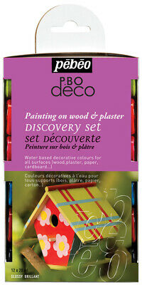 Pebeo Deco Acrylic Art Craft DIY Furniture Paint Discovery Set 12 x 20ml GLOSSY