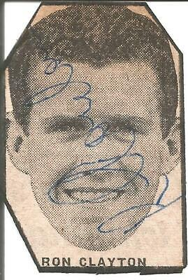 Football Autograph Ronnie Clayton Signed Newspaper Photograph & Bio Sheet F407