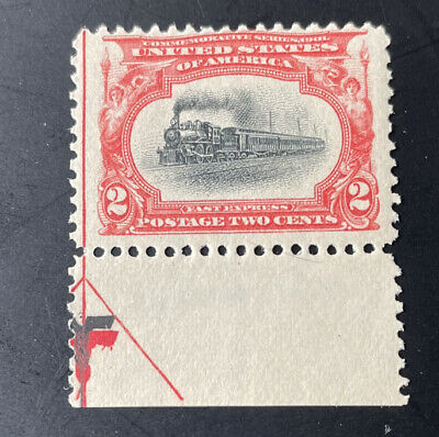 US Pan-American Exposition Issue: Scott #295 2c 1898  Arrow Plate Mint OG H $65