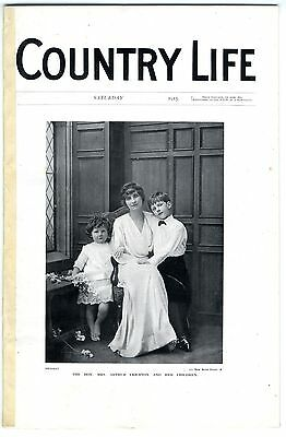 1915 COUNTRY LIFE Magazine KATHERINE CRICHTON Lord Hindlip MURTHLY CASTLE (8790)