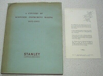 Stanley Tools 1853-1953. A Century of Scientific Instrument Making. Illustrated