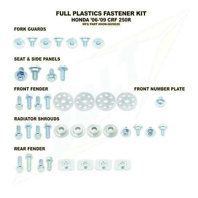 Full Plastics Fastener bolt Kit. Honda crf250 2006 - 2009