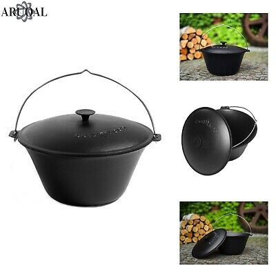 ARUOAL (COOKKING) Natural Cast Iron Goulash Pot, Hand Made, in sizes 8L/11L/16L