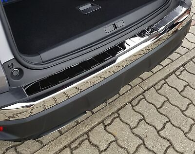 For Peugeot 3008 2 2016- Rear Bumper Protector Guard Trim Cover Steel Chrome