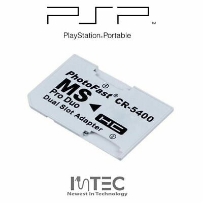 Dual Micro SD to PRO DUO Memory Stick Adapter for PSP 1003 2003 2004 3003 3004
