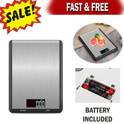 Luxury Stainless Steel LED Digital Scale For Food Kitchen Postal Scale 1g- 5000g