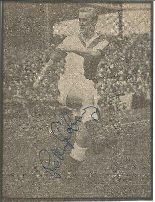 Football Autograph Peter Dobing Signed Newspaper Picture & Biography Sheet F422
