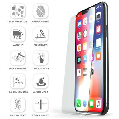 2X ULTRA-TOUGH TEMPERED GLASS SCREEN PROTECTOR FOR IPHONE XS Max XR 8 7 Plus