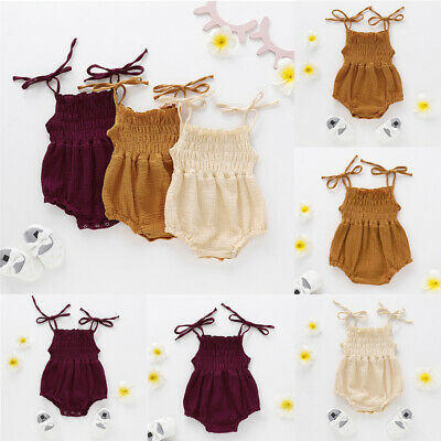Fashion Sweet Newborn Baby Girl Romper Bodysuit Jumpsuit Casual Clothes Outfits