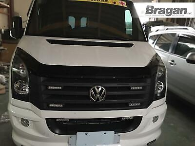 To Fit 2006-2014 Volkswagen Crafter Smoked Hardened Acrylic Bonnet Guard Shield