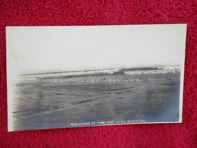 Early 1900s J. Bewere Post Card Breakers at High Tide Long Beach, CA