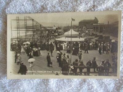 Early 1900s J. Bewere Post Card The Pike Boardwalk at Long Beach CA