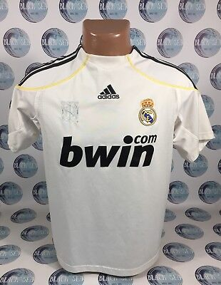 f5caf09f318 Real Madrid 2009 2010 Home Football Soccer Shirt Jersey Camiseta Maillot  Boys