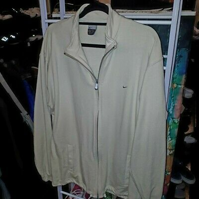 Mens Nike Zip Up Top Size Large in light cream clean & tidy very smart look
