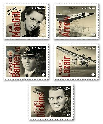 NEW !!! = CANADIANS IN FLIGHT = DIE CUT = BOOKLET stamps = MNH-VF Canada 2019