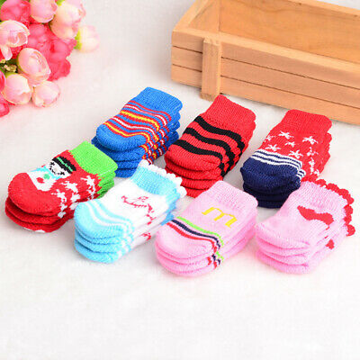 Dog Paw Paws Non Slip Socks Heal Wound Stop Slipping Wooden Floors Boot 4pcs/lot