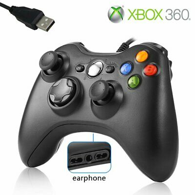 2019 USB Wired Xbox 360 Controller Game Pad For Microsoft Xbox 360 PC Windows ON