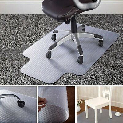 90X120cm PVC Floor Mat Home Office Chair Studded Back with Lip for Pile Carpet