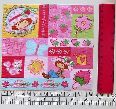 #4 Strawberry Shortcake Fabric Iron On Ons Appliques