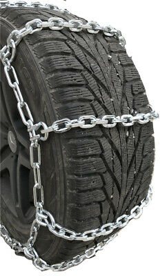 Snow Chains   35X13.5-15  7mm Square Boron Alloy Tire Chains, Spider Bungee