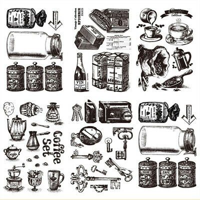 Clear DIY Crafts Scrapbooking Silicone Rubber Retro Transparent Stamp