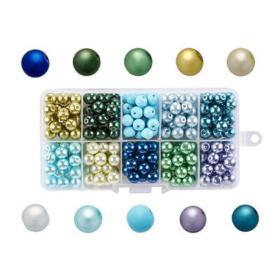 Mixed Color Pearlized Round Glass Loose Beads Beading Craft Findings 4/6/8/10mm