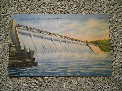 Vintage  Post Card - Grand Coulee Dam - No. 3014