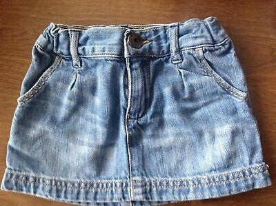 Size18-24 Mos.NWT Light Wash Old Navy Baby Girl Embroidered Pocket Denim Skirt