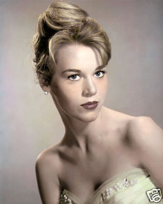 "JANE FONDA HOLLYWOOD ACTRESS POLITICAL ACTIVIST 8x10"" HAND COLOR TINTED PHOTO"