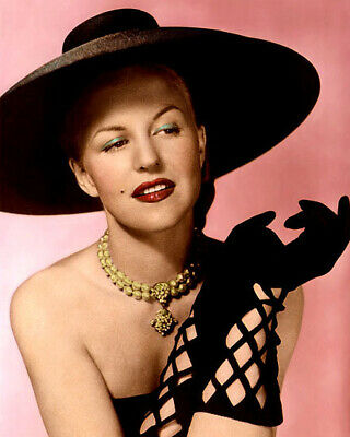 """PEGGY LEE SINGER SONGWRITER HOLLYWOOD ACTRESS 8x10"""" HAND COLOR TINTED PHOTOGRAPH"""