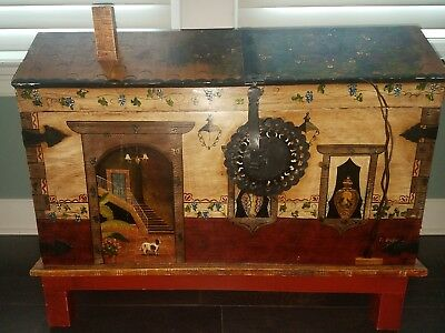 Hand painted chest trunk