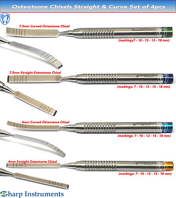 Osteotomes Chisel For plastic surgery, orthopedic surgery implant dental surgery