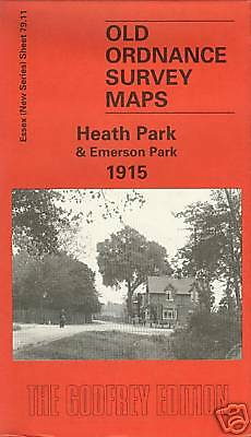 Old Ordnance Survey Map Of Heath Park & Emerson Park 1915