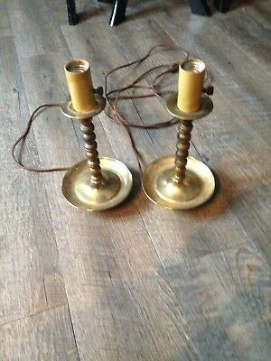 Vintage Brass Lights (2) - Perfect For Bed Stands