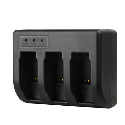 AHDBT-501 3 Slots USB Battery Charger for GoPro Hero 5 Action Camera Black