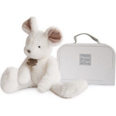 Peluche Souris Blanche Sweety Couture 38 Cm Histoire D'ours